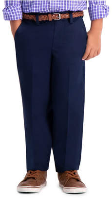 Haggar Boys Premium No Iron Khaki, Reg Fit, Flat Front Pant Size 4 - 7