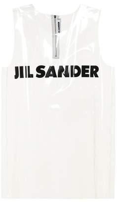 Jil Sander Transparent logo tank top