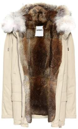 Yves Salomon Army Fur-trimmed cotton anorak
