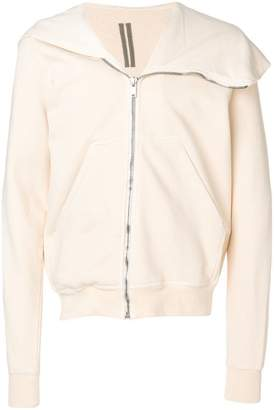 Rick Owens asymmetric zipped hoodie