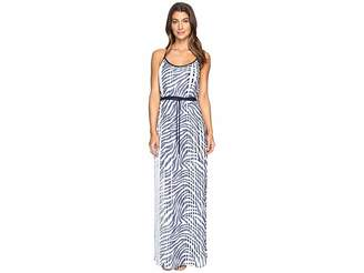 MICHAEL Michael Kors Plains Zebra Pleat Maxi Women's Dress