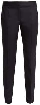 Stella McCartney Vivian Slim Leg Wool Trousers - Womens - Navy
