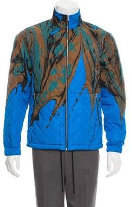 Dries Van Noten Vinny Marble Print Quilted Jacket w/ Tags