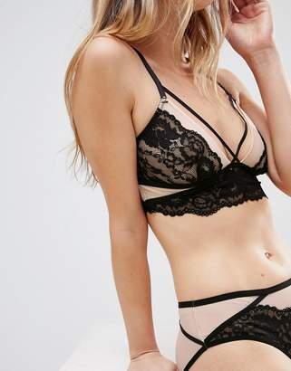 New Look Lace Longline Strapping Bralette