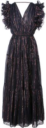 Ulla Johnson ruffle trim metallic thread dress