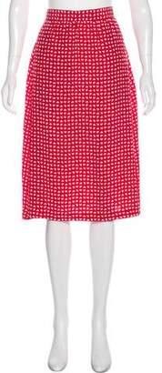 Vanessa Seward Silk Knee-Length Skirt