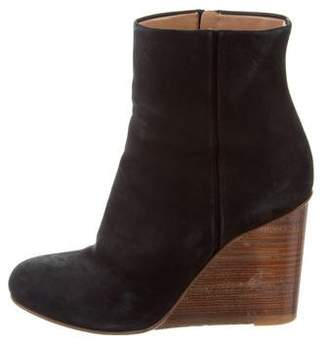 Maison Margiela Suede Wedge Ankle Boots