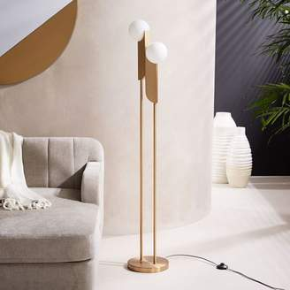 west elm Bower LED Floor Lamp - Brass