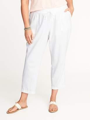 Old Navy Plus-Size Linen-Blend Cropped Soft Pants