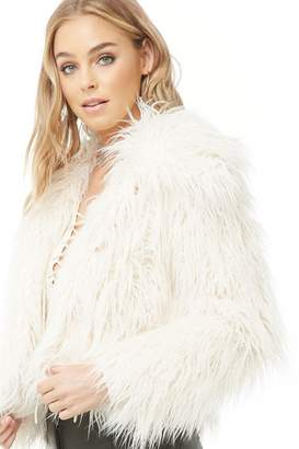 Forever 21 Shaggy Faux Fur Coat