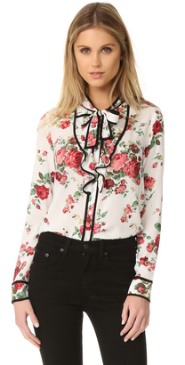 re:named Floral Neck Tie Blouse $54 thestylecure.com
