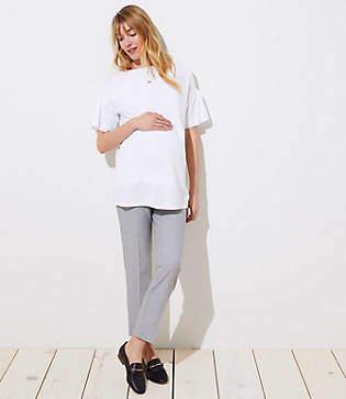 LOFT Petite Maternity Slim Custom Stretch Pants