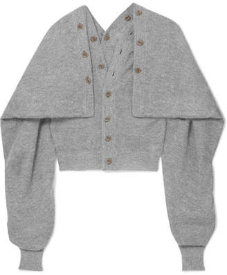 Oversized Mohair-blend Cardigan - Gray