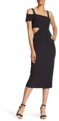 Jay Godfrey Marquette One Shoulder Cutout Dress