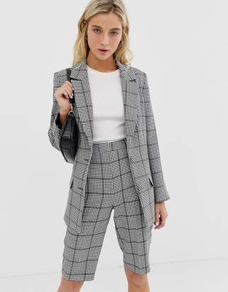 Asos Design DESIGN city suit blazer in khaki houndstooth check