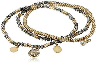 Kenneth Cole New York Mixed Faceted Bead Stretch Bracelet