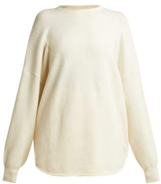 Extreme Cashmere - No. 53 Crew Hop Cashmere Blend Sweater - Womens - Cream