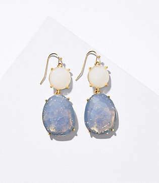 LOFT Double Stone Drop Earrings