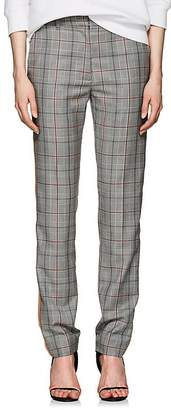 Calvin Klein Women's Glen Plaid Wool Slim Trousers