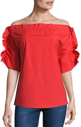 Peserico Women's Ruffle Off-The-Shoulder Top