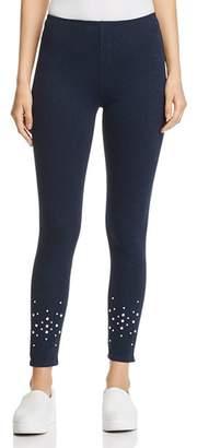 Lysse Faux-Pearl Embellished Denim Leggings