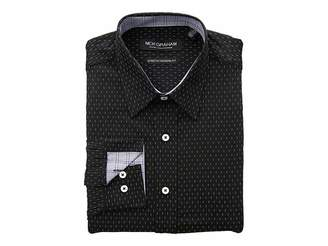 Nick Graham Cross Dot Print CVC Stretch Dress Shirt