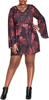 City Chic Crimson Rose Tunic Dress