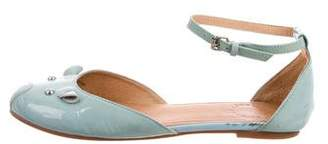Marc by Marc Jacobs Patent Leather Ankle Strap Flats