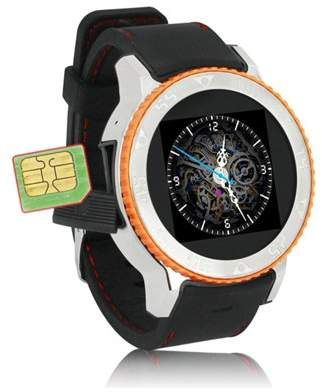 Indigi Waterproof Unlocked 2-in-1 S7 SmartWatch & Phone - Bluetooth Sync Compatible - WiFi - Android 4.4 OS - GPS