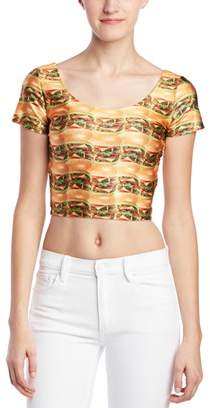 Zara Terez Cheeseburger Crop Top.
