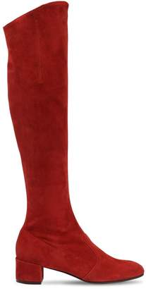 L'Autre Chose 30mm Barbarella Suede Over The Knee Boot