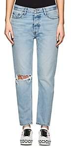 GRLFRND Women's Kiara Tomboy Distressed Boyfriend Jeans - Blue