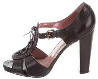 Derek Lam Leather Peep-Toe Pumps
