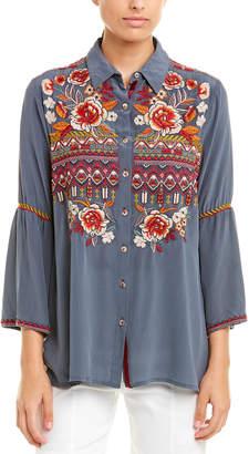 Johnny Was Silk Shirt