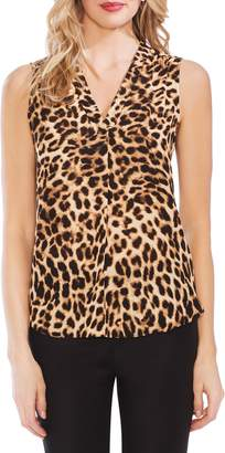 Vince Camuto Leopard Sleeveless Blouse