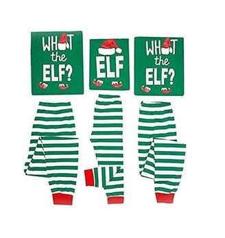 Jiuhexu Family Matching Christmas Pajamas Sleepwear Letter Print Striped  PJs Set fce66c987