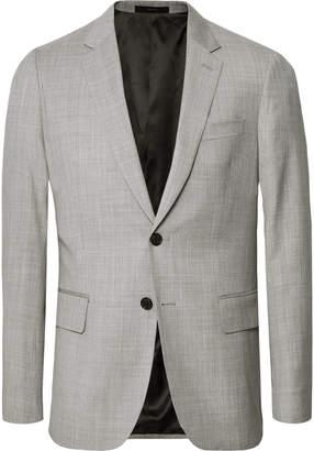 Paul Smith Light-Grey Soho Slim-Fit Mélange Wool Suit Jacket