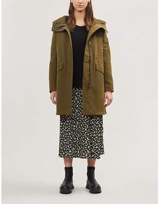 49 WINTERS Long Parka cotton-blend coat