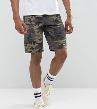 Asos DESIGN TALL Slim Chino Shorts With Camo Print
