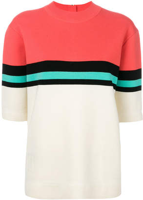 Marc Jacobs stripe detail knitted top