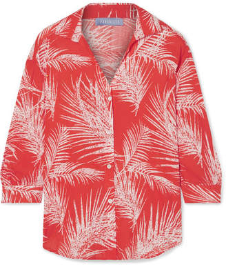 Paradised Printed Voile Shirt - Red