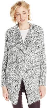 XOXO Junior's Drapey Cozy Long Eyelash Sweater Cardigan