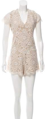Alexis Lace Short Sleeved Romper