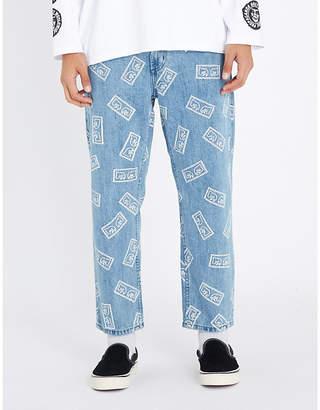 Obey Bender eyes regular-fit tapered jeans
