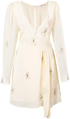 For Love & Lemons scorpion embroidered mini dress