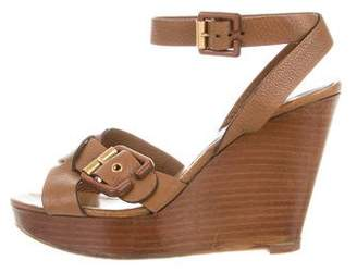 Chloé Buckle Wedge Sandals