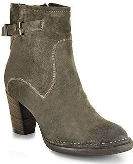 Alberto Fermani Isabela - Taupe Suede Ankle Bootie