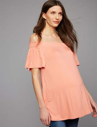 A Pea in the Pod Flutter Sleeve Maternity Top
