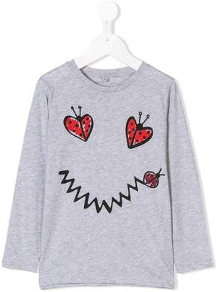 Stella McCartney ladybug print long sleeve T-shirt
