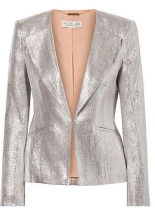 Rachel Zoe Daisy Metallic Woven Blazer - Silver